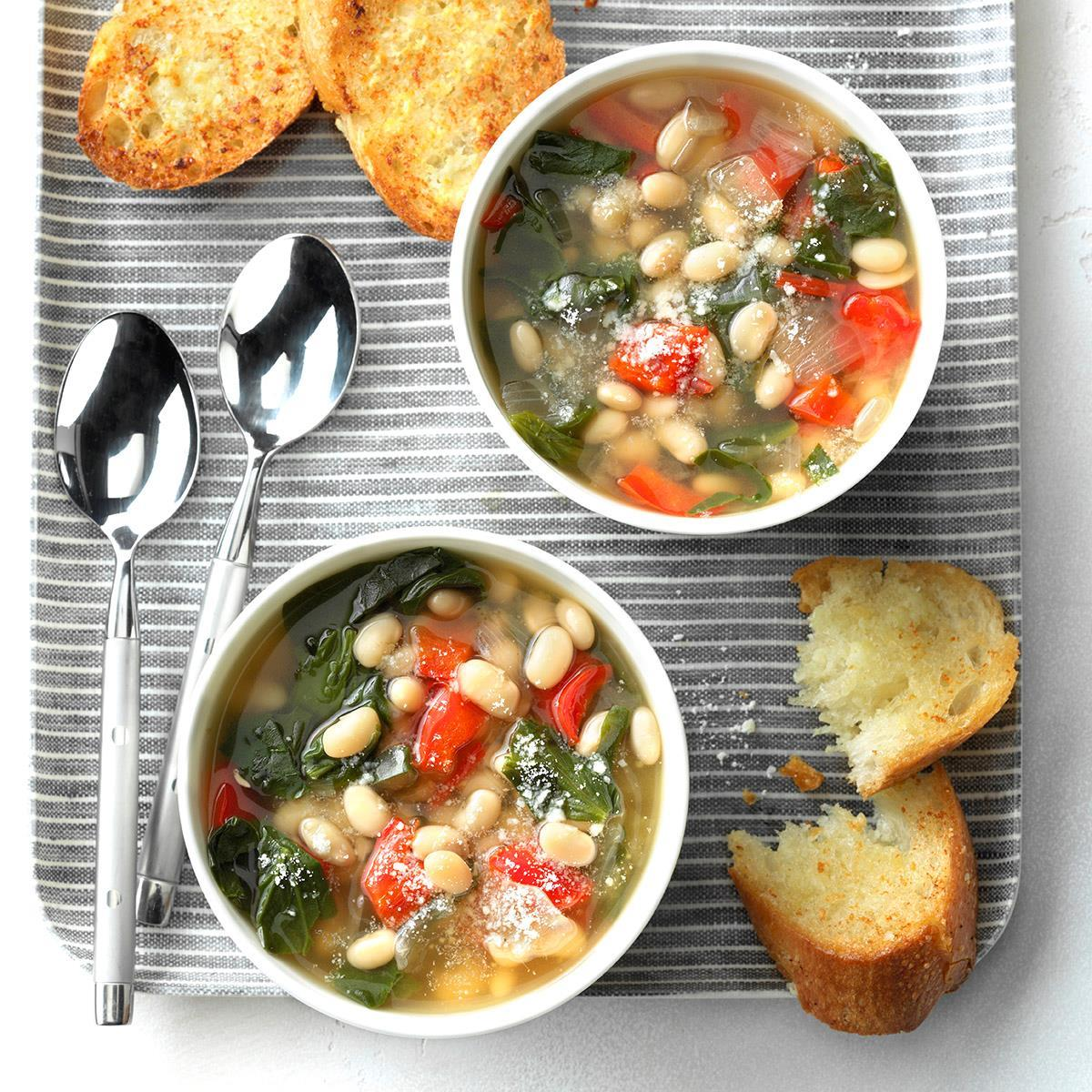 Slow-Cooker Spinach Bean Soup image
