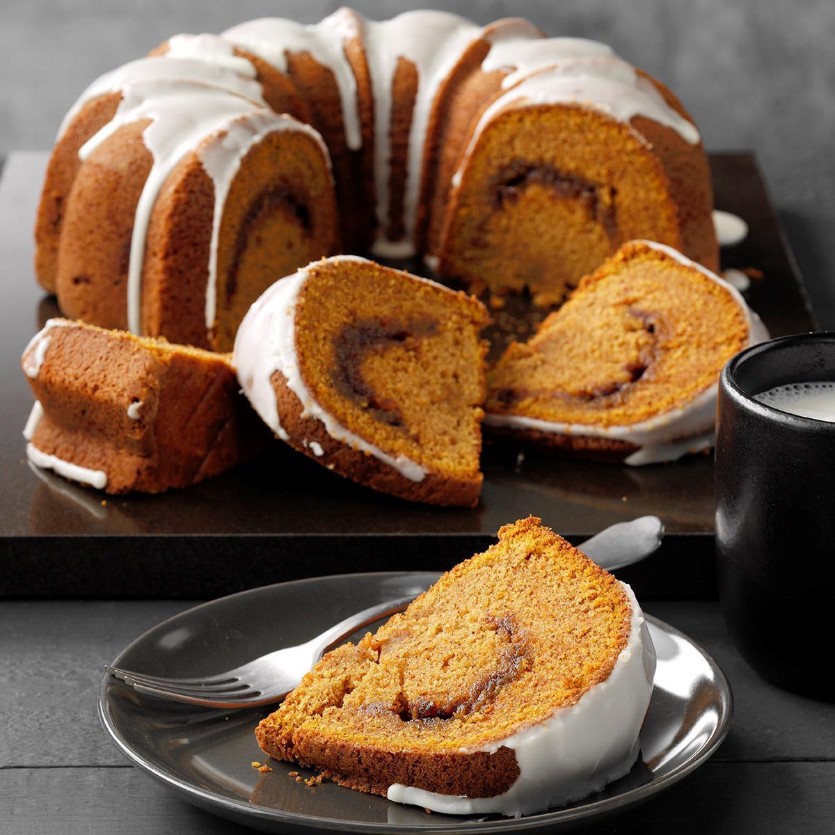 Sour Cream Pumpkin Cake Recipe Taste Of Home