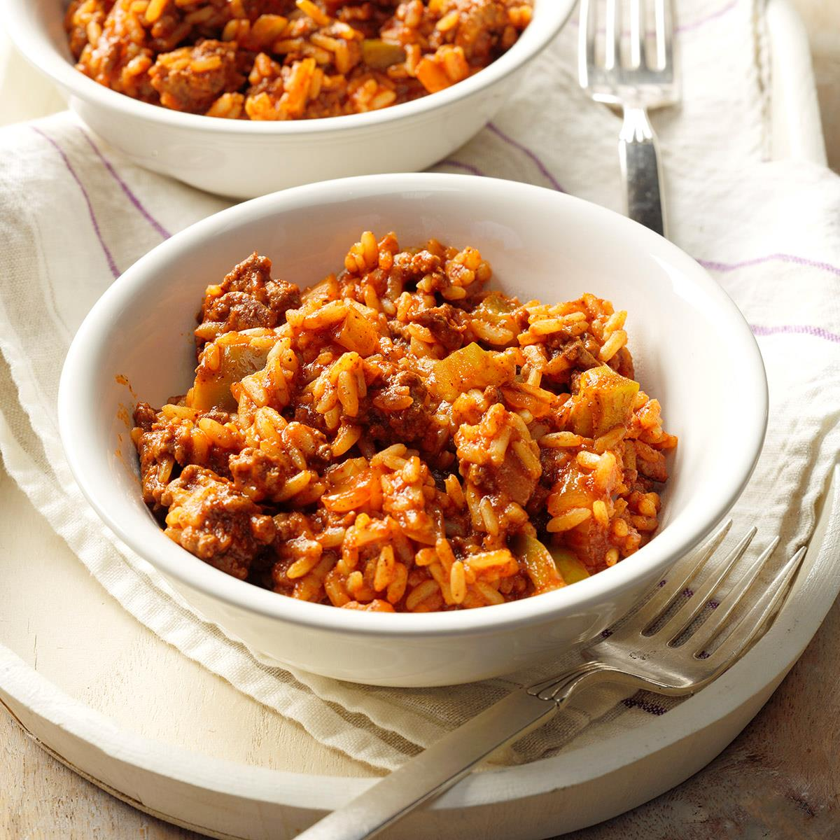 Spanish Rice With Ground Beef Recipe How To Make It Taste Of Home
