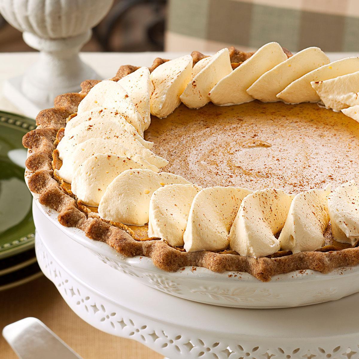 Spiced Pumpkin Custard Pie image