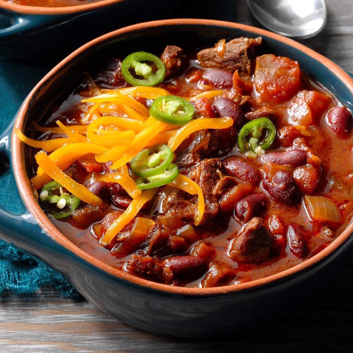 Spicy Cowboy Chili Recipe How To Make It Taste Of Home