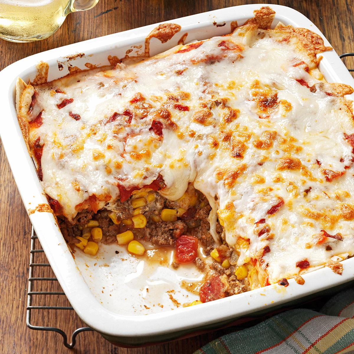 Spicy Enchilada Casserole Recipe How To Make It Taste Of Home