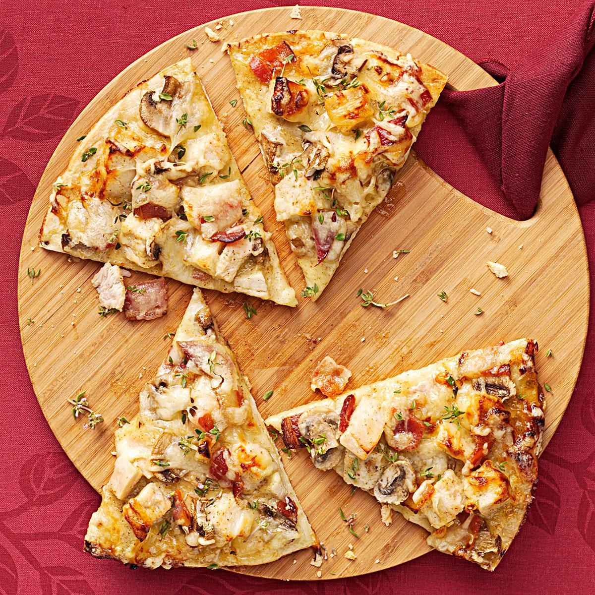 Spicy Mustard Turkey Pizza_image