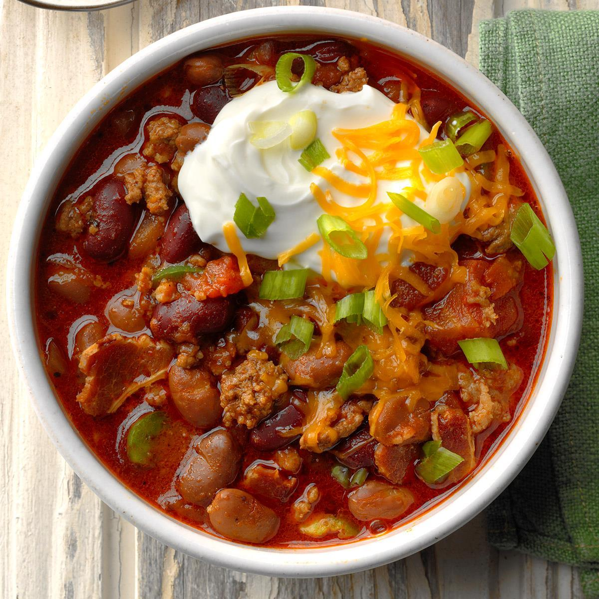 Spicy Touchdown Chili Recipe How To Make It Taste Of Home