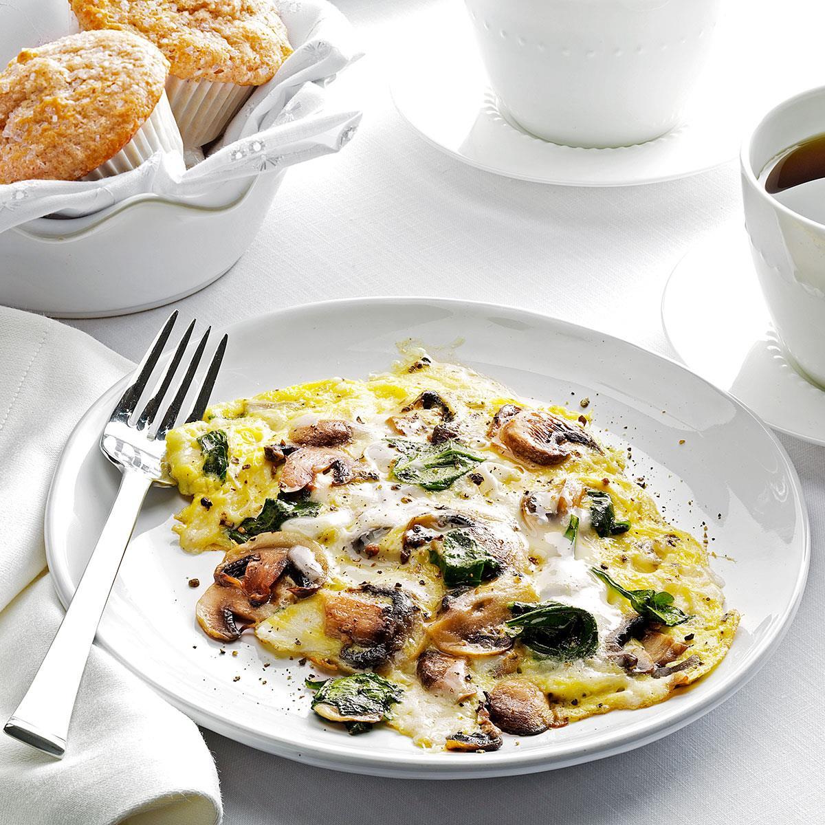 Spinach Mushroom Scrambled Eggs Recipe How To Make It Taste Of Home