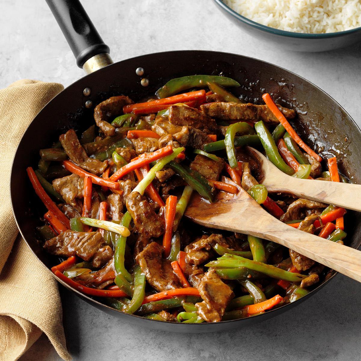 chop steak stir fry recipe Steak Stir-Fry