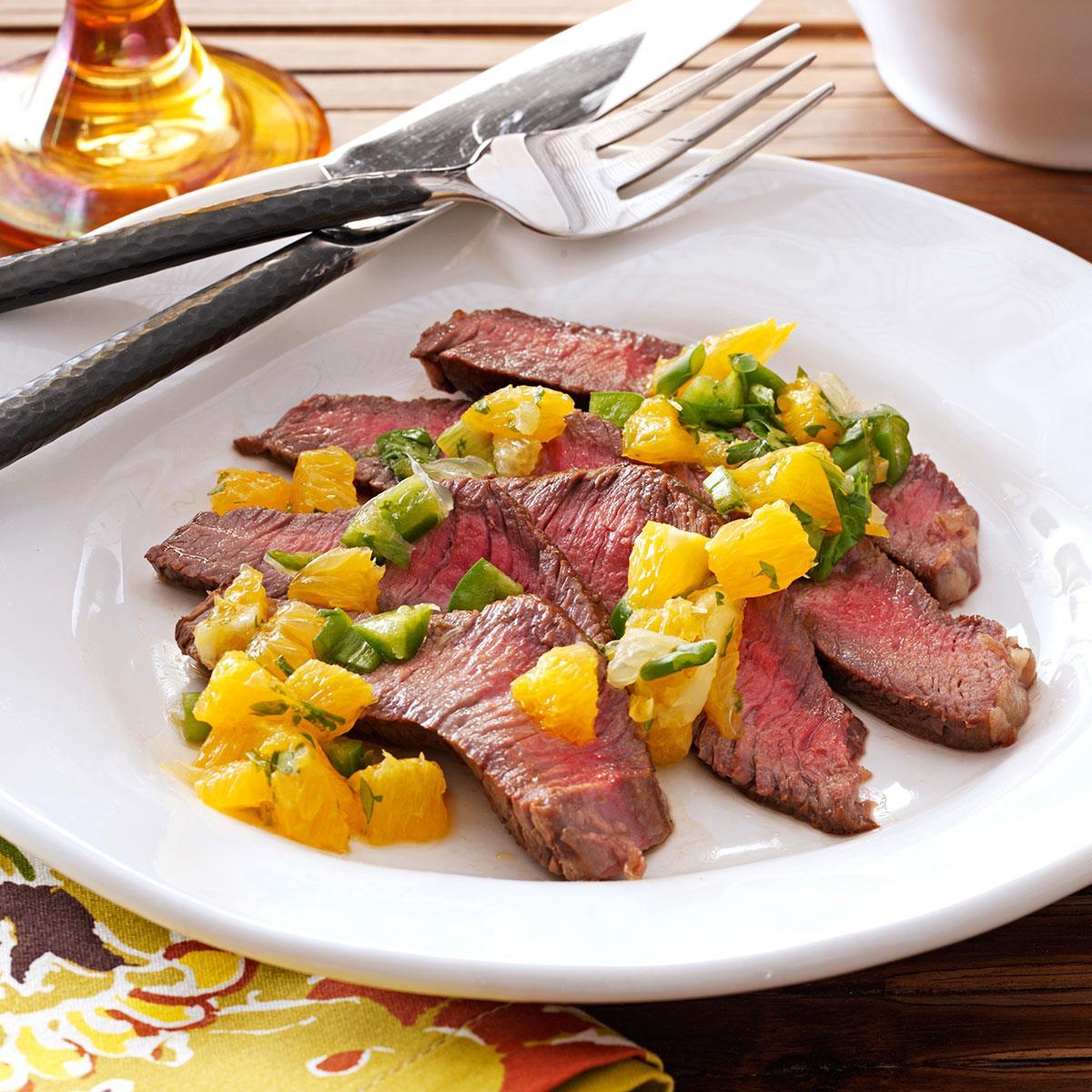 Steak with Citrus Salsa image