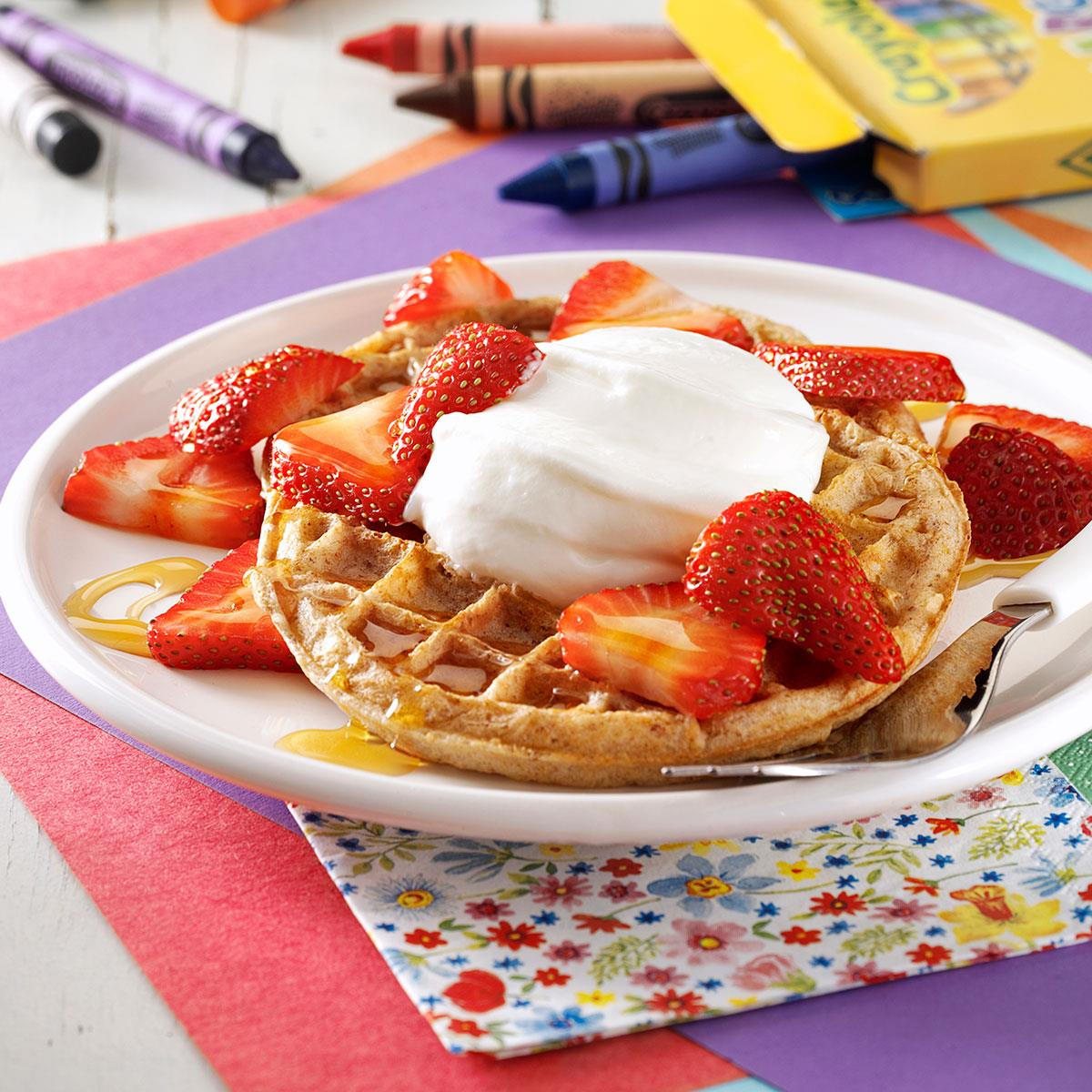 Strawberry Breakfast Shortcakes Recipe How To Make It Taste Of Home