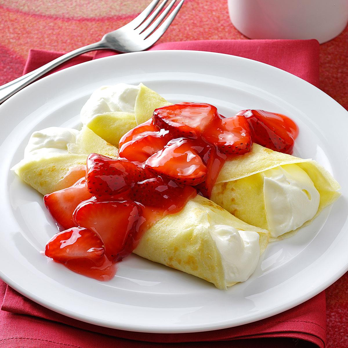 Strawberry Creme Crepes Recipe How To Make It Taste Of Home