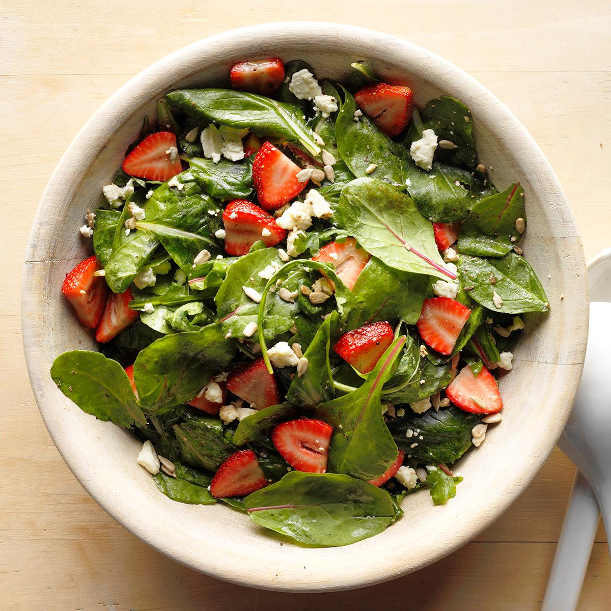 Strawberry Feta Tossed Salad Recipe How To Make It Taste Of Home