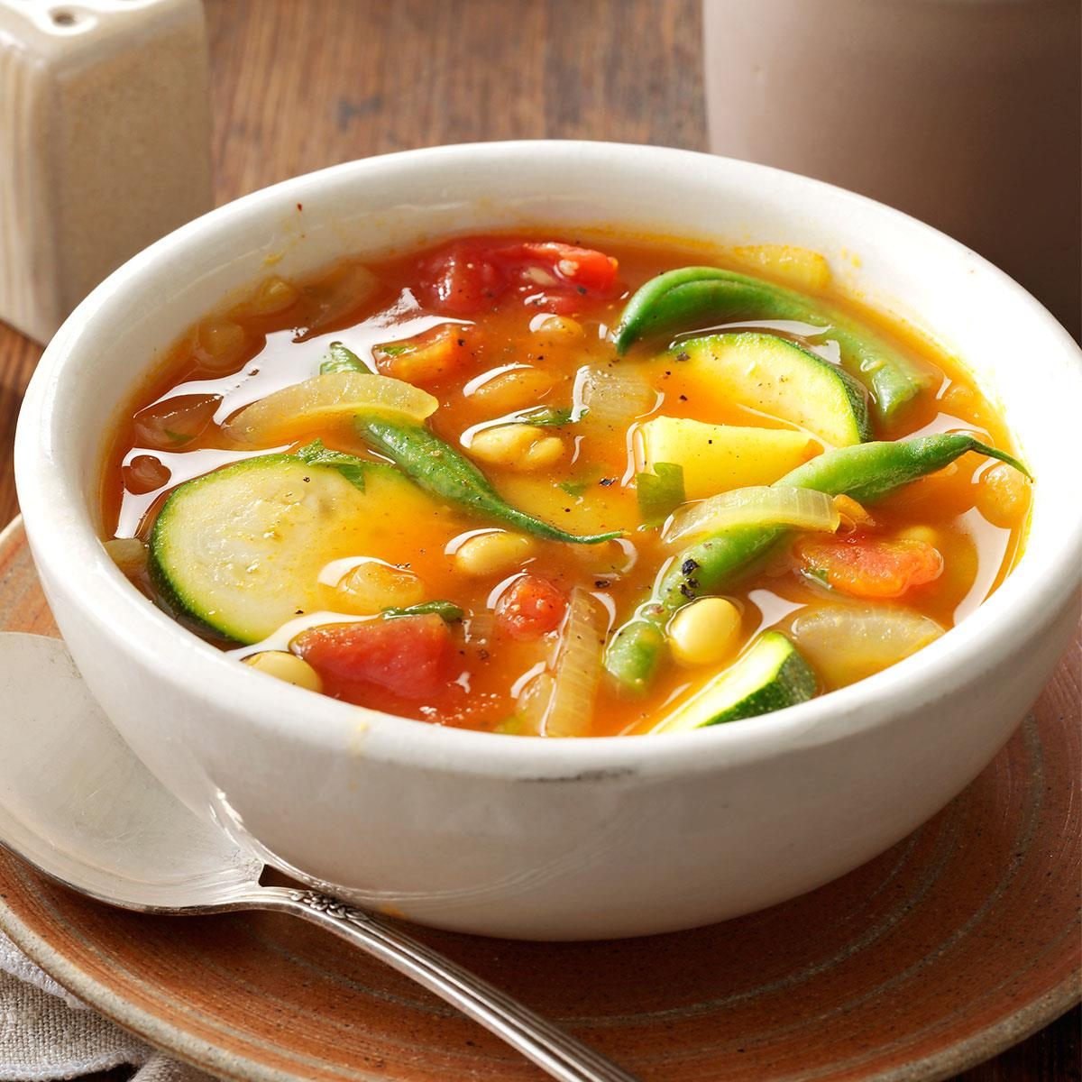 Summer Vegetable Soup Recipe Taste Of Home