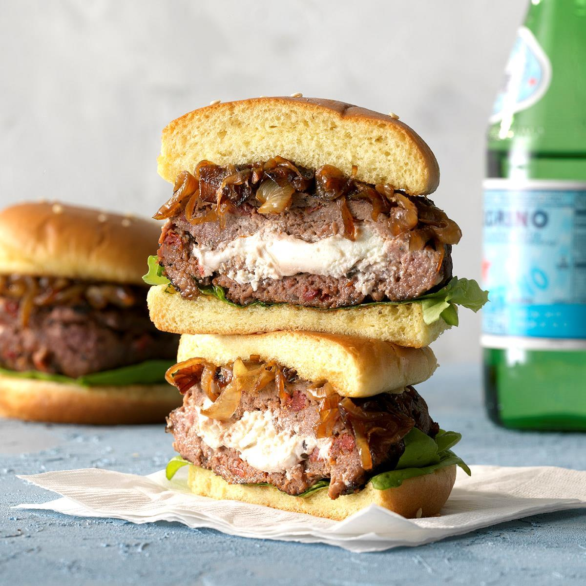 Gourmet Burgers With Sun Dried Tomato Recipe How To Make It Taste Of Home