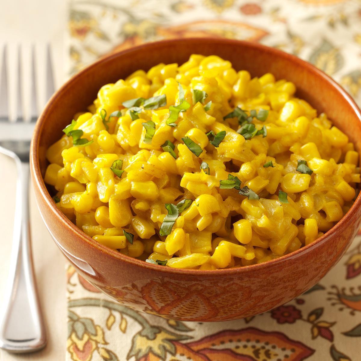 Sweet Corn Saffron Risotto Recipe How To Make It Taste Of Home
