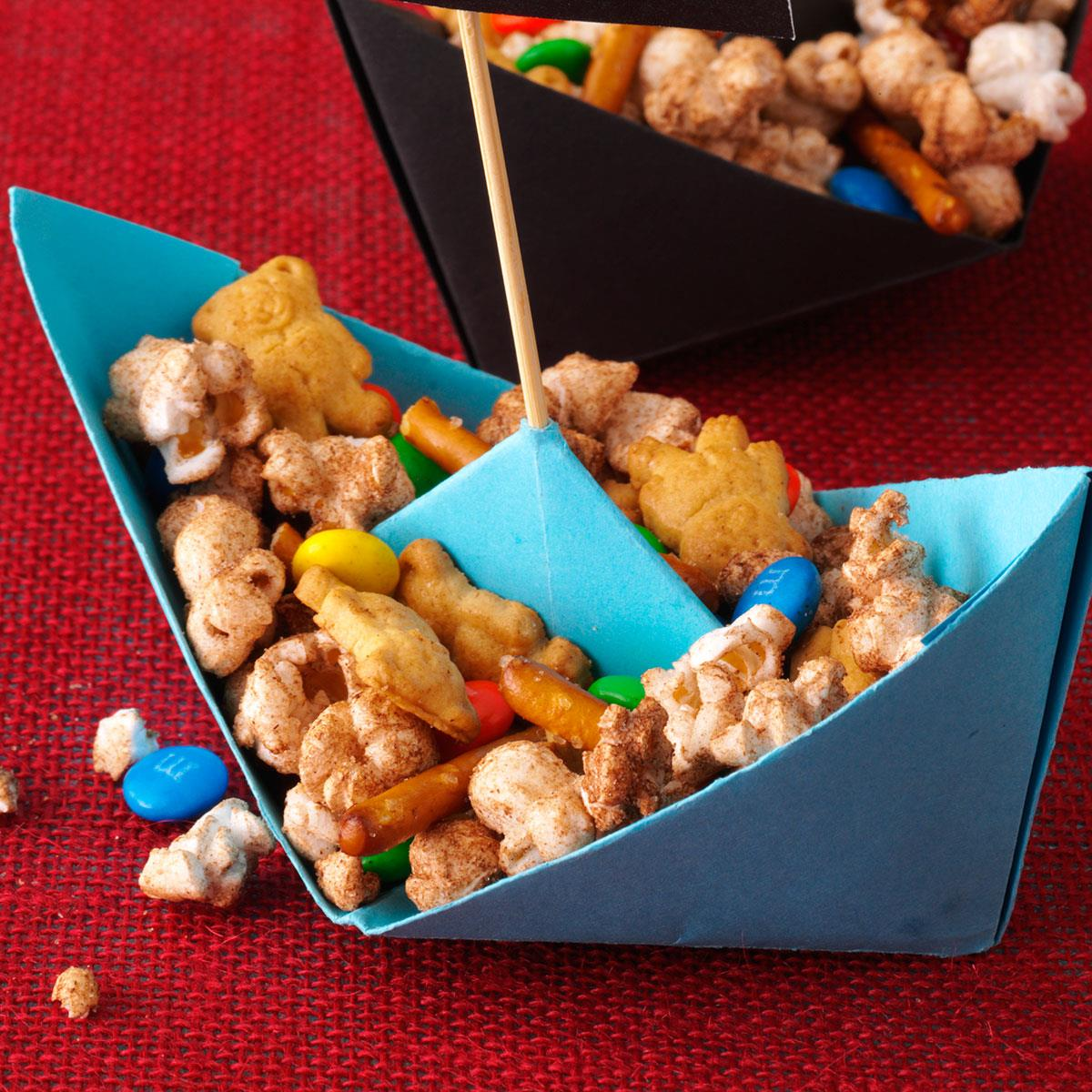 Sweet Popcorn Snack Mix Recipe How To Make It Taste Of Home