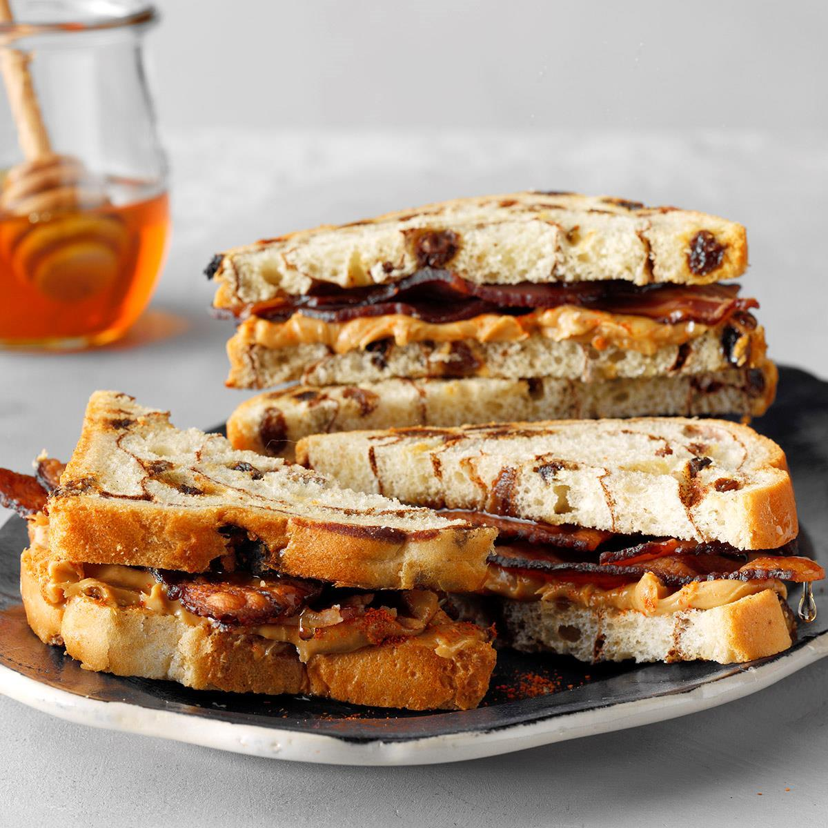 Sweet And Spicy Peanut Butter Bacon Sandwiches Recipe Taste Of Home