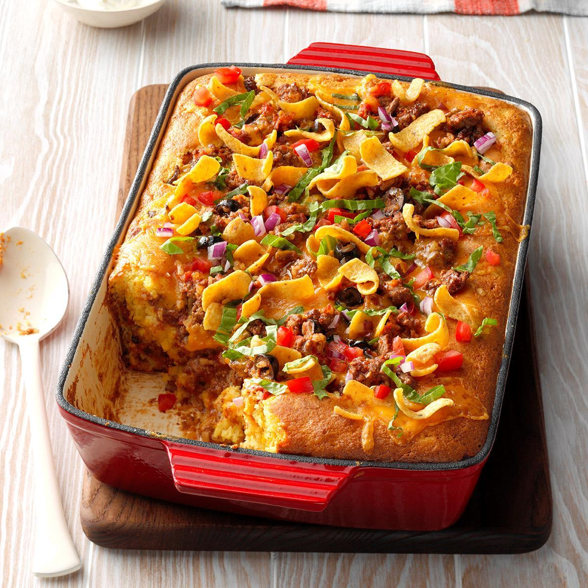 Taco Cornbread Casserole Recipe Taste Of Home,8th Anniversary Cake