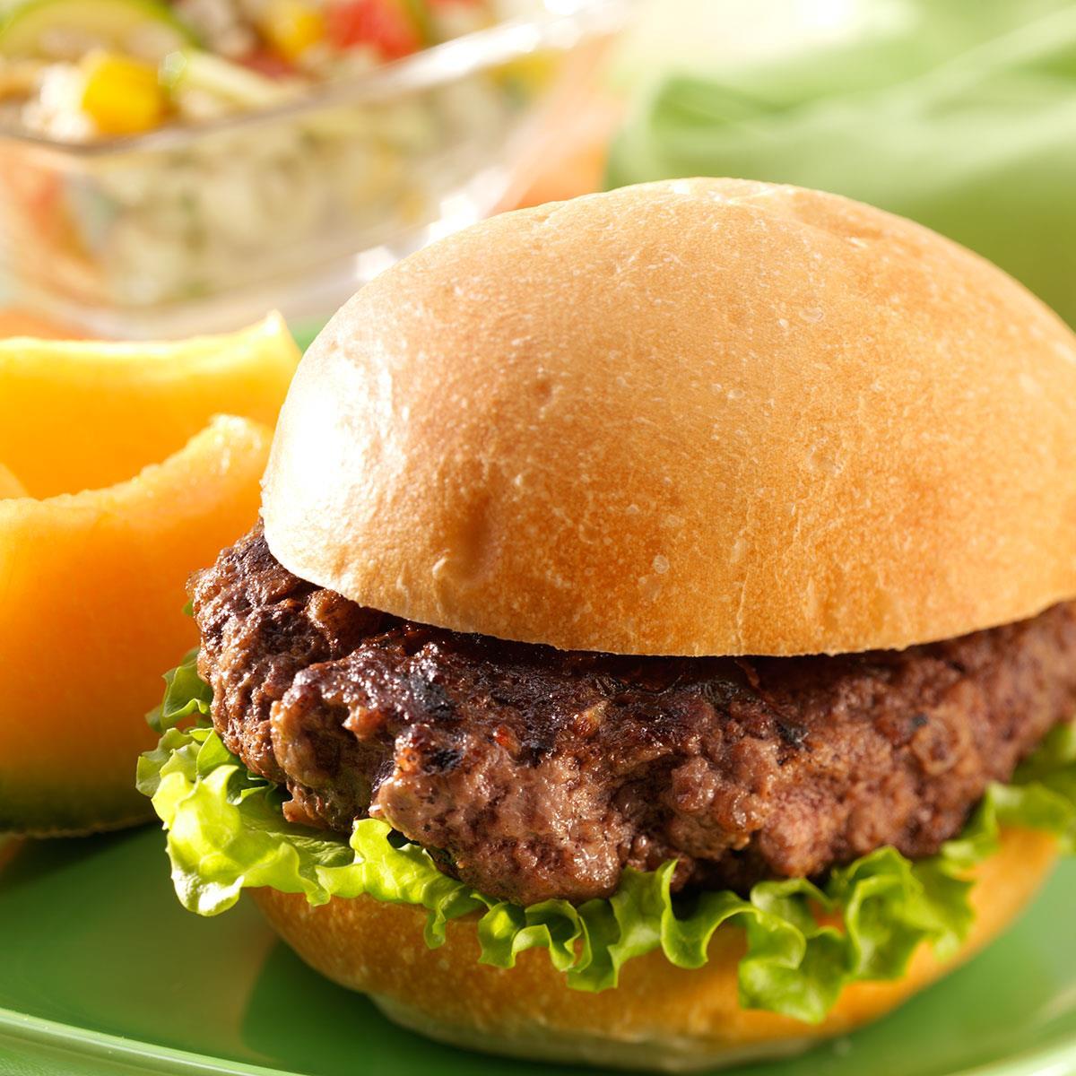 Teriyaki Beef Burgers Recipe How To Make It Taste Of Home
