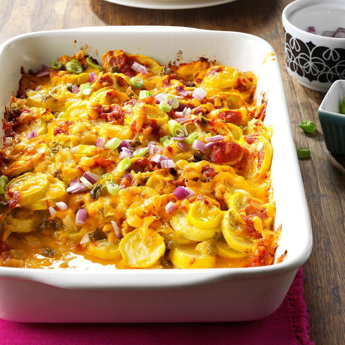 Tex Mex Summer Squash Casserole Recipe How To Make It Taste Of Home