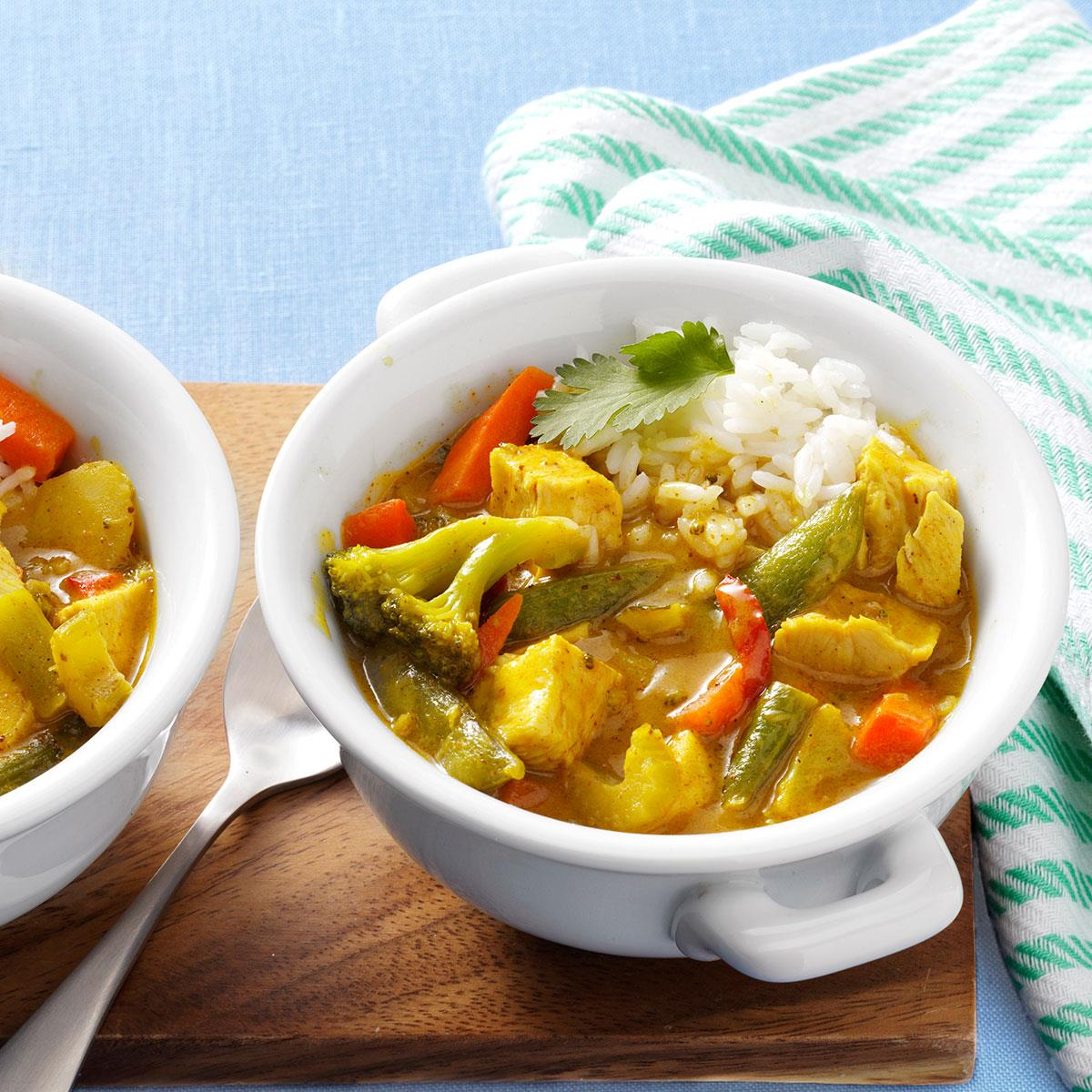 Thai Red Chicken Curry Recipe How To Make It Taste Of Home
