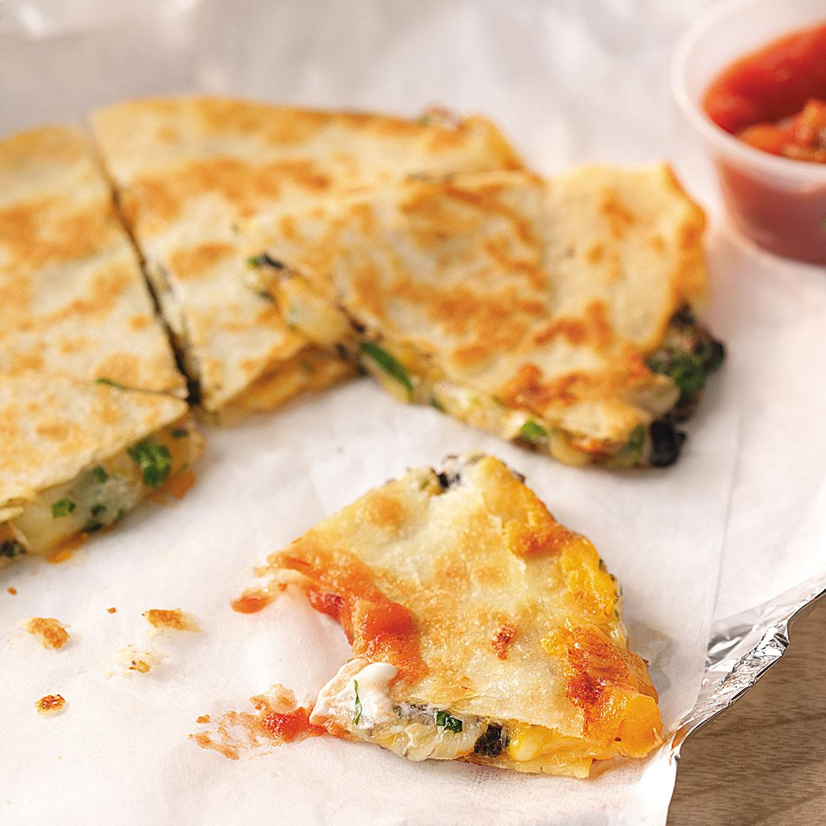 Three Cheese Quesadillas Recipe How To Make It Taste Of Home