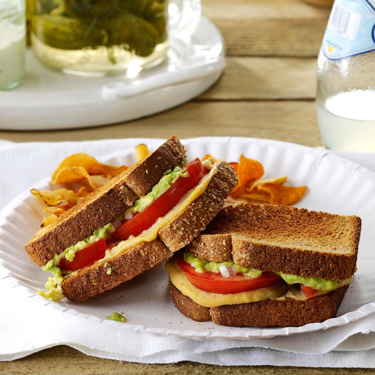 Tomato Avocado Sandwiches Recipe How To Make It Taste Of Home