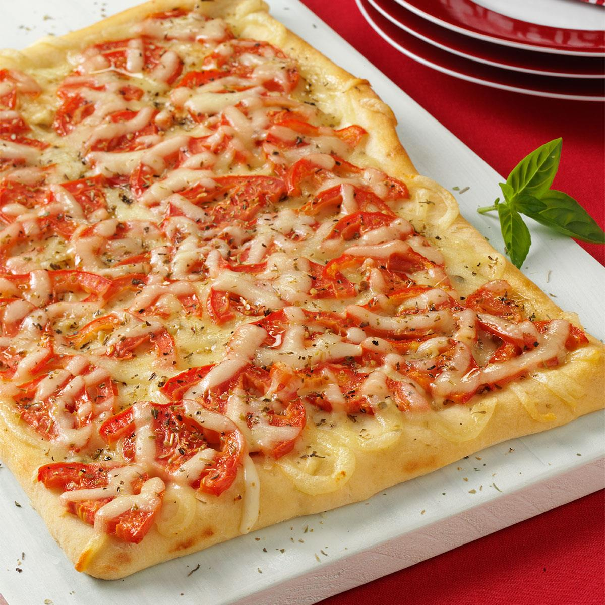 Tomato Pizza Bread Recipe How To Make It Taste Of Home