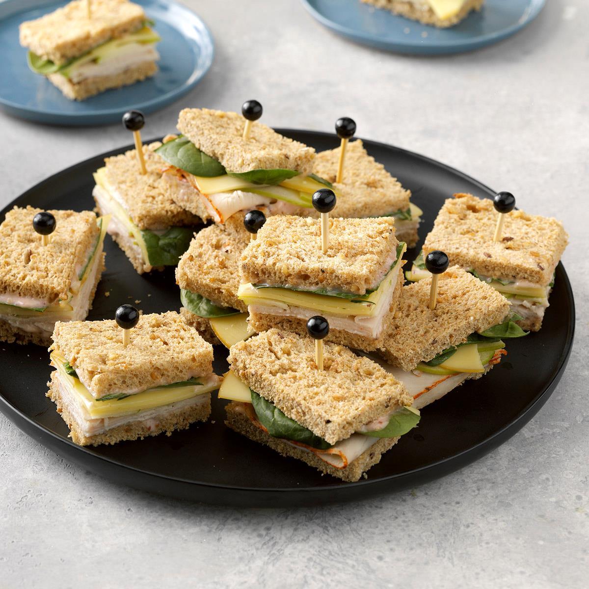 Turkey, Gouda & Apple Tea Sandwiches image