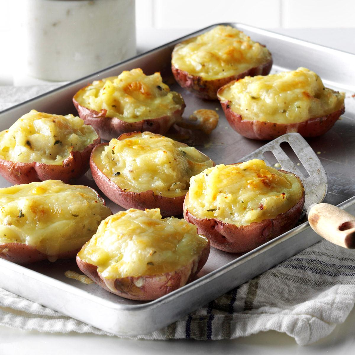 Twice Baked Red Potatoes Recipe How To Make It Taste Of Home