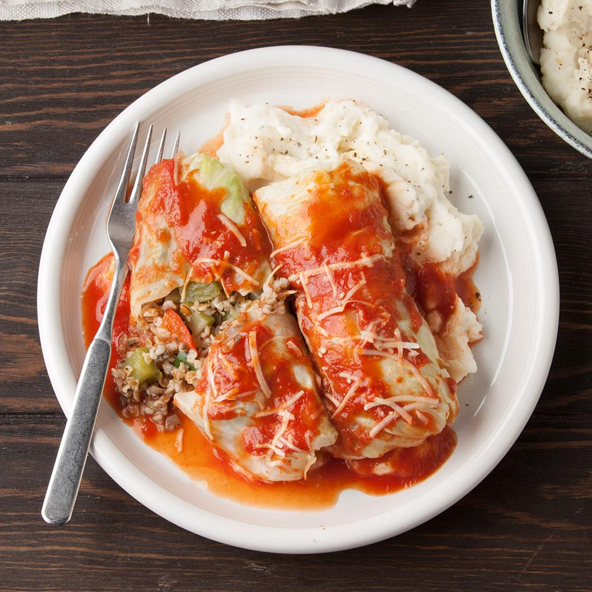 Vegetarian Cabbage Rolls Recipe How To Make It Taste Of Home