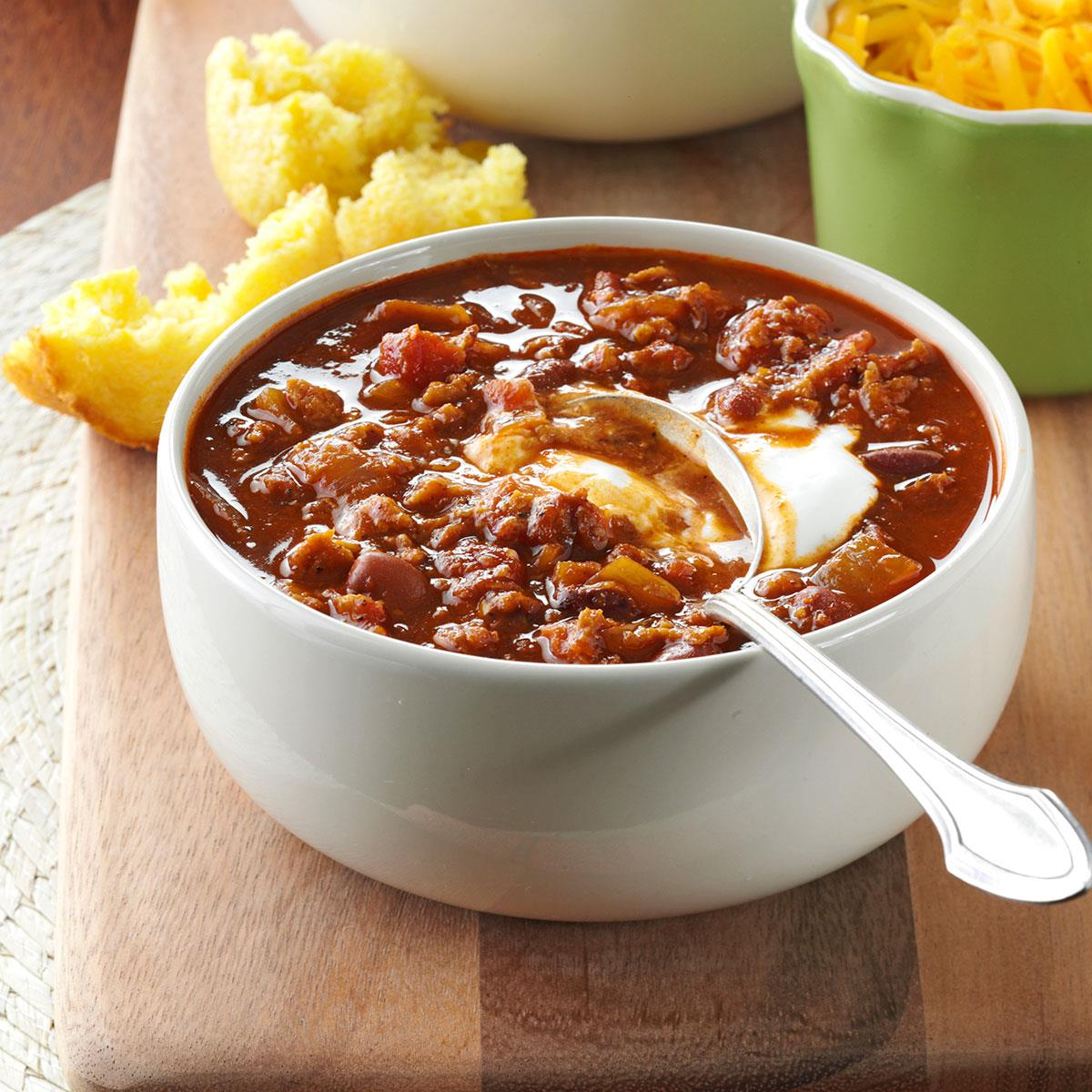 Vegetarian Red Bean Chili Recipe How To Make It Taste Of Home