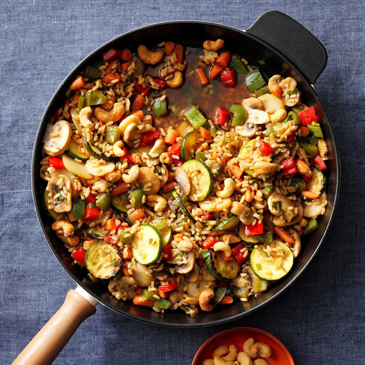 Veggie Cashew Stir Fry Recipe How To Make It Taste Of Home