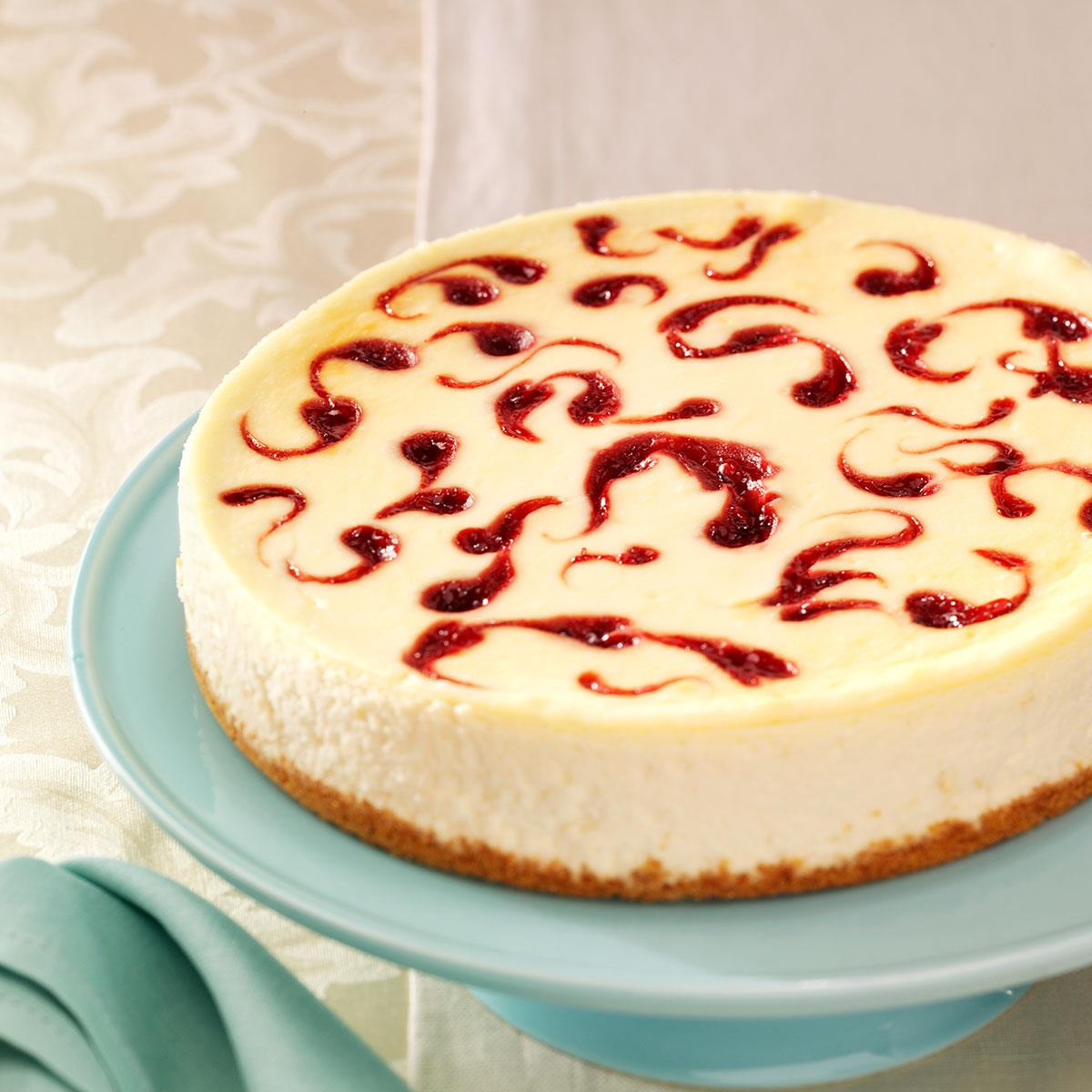 White Chocolate Raspberry Cheesecake Recipe How To Make It Taste Of Home