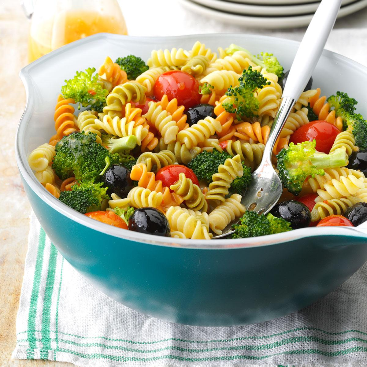 Colorful Spiral Pasta Salad Recipe How To Make It Taste Of Home