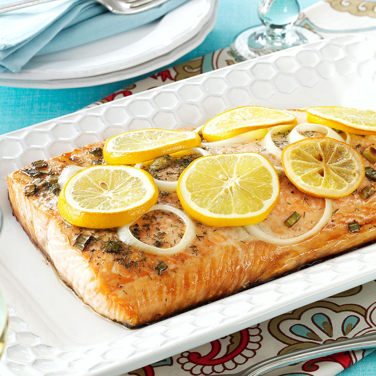 Lemon Grilled Salmon Recipe How To Make It Taste Of Home