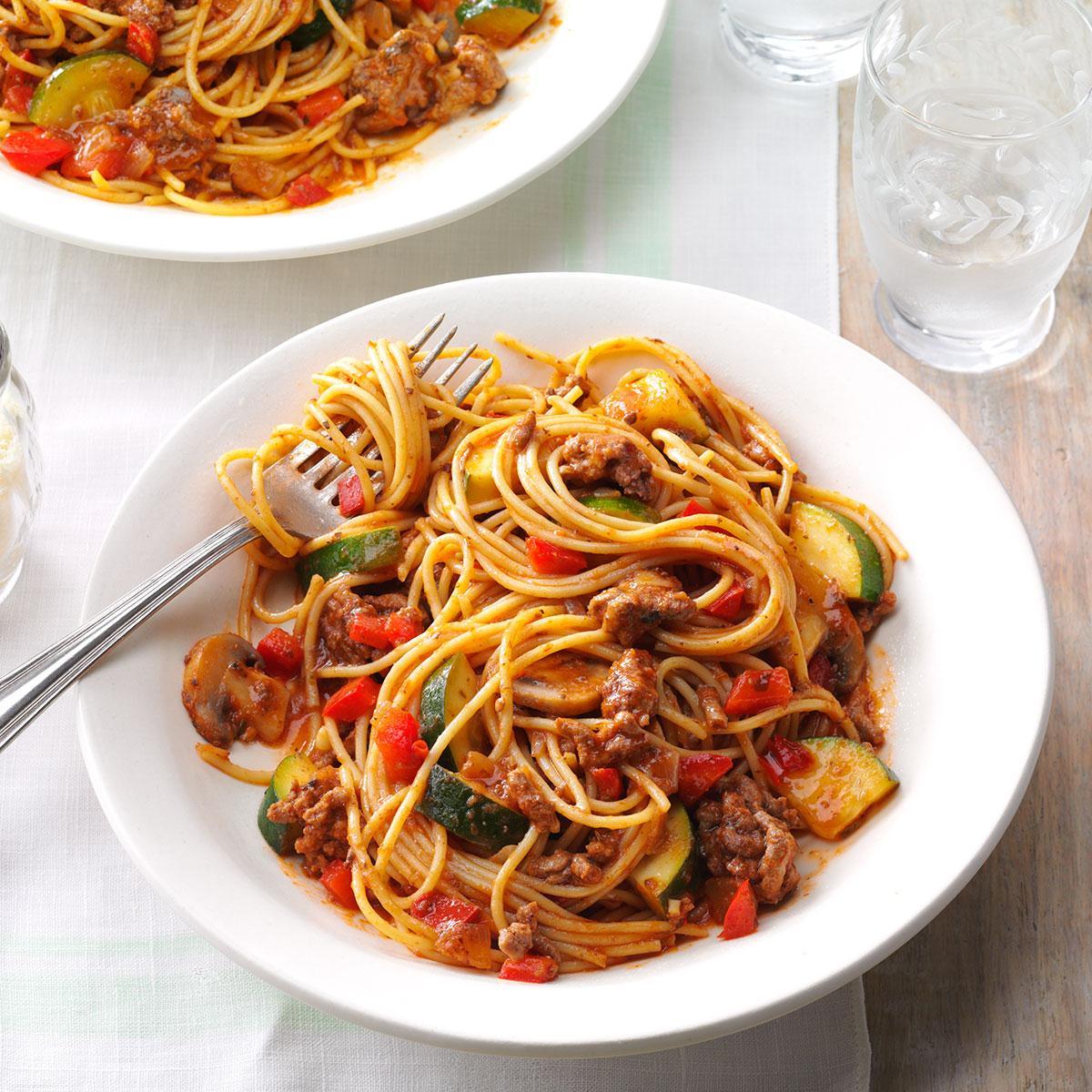 Hearty Garden Spaghetti image