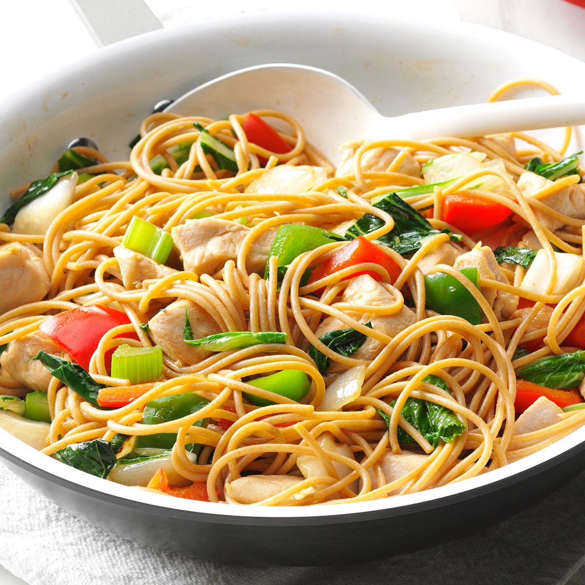 Chicken Stir Fry With Noodles Recipe How To Make It Taste Of Home