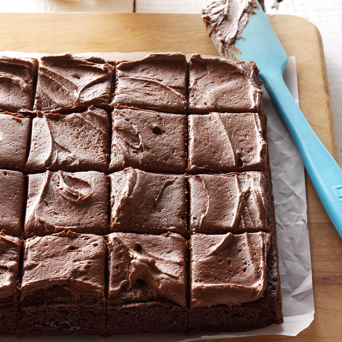 Frosted Fudge Brownies image