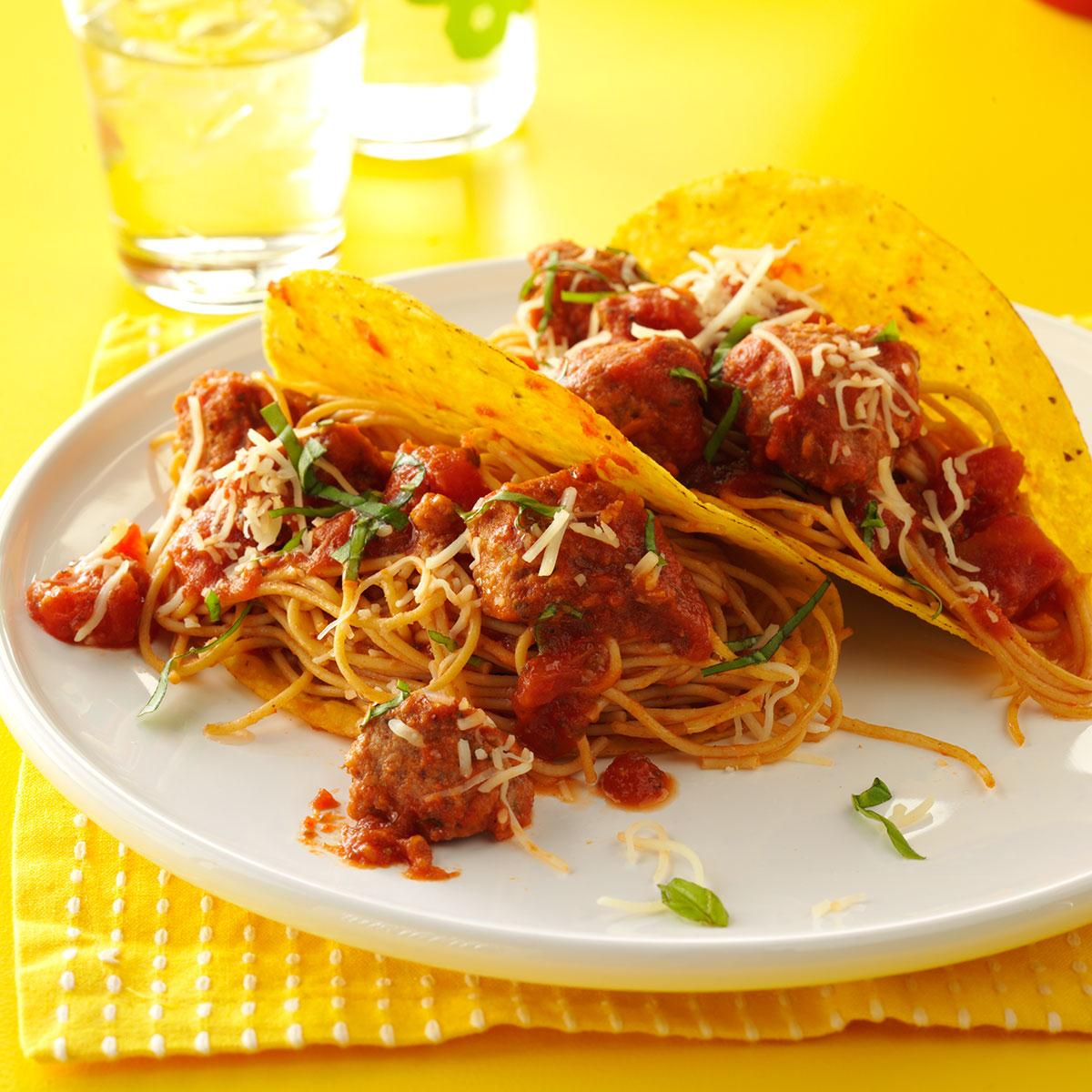 Spaghetti Tacos Recipe How To Make It Taste Of Home