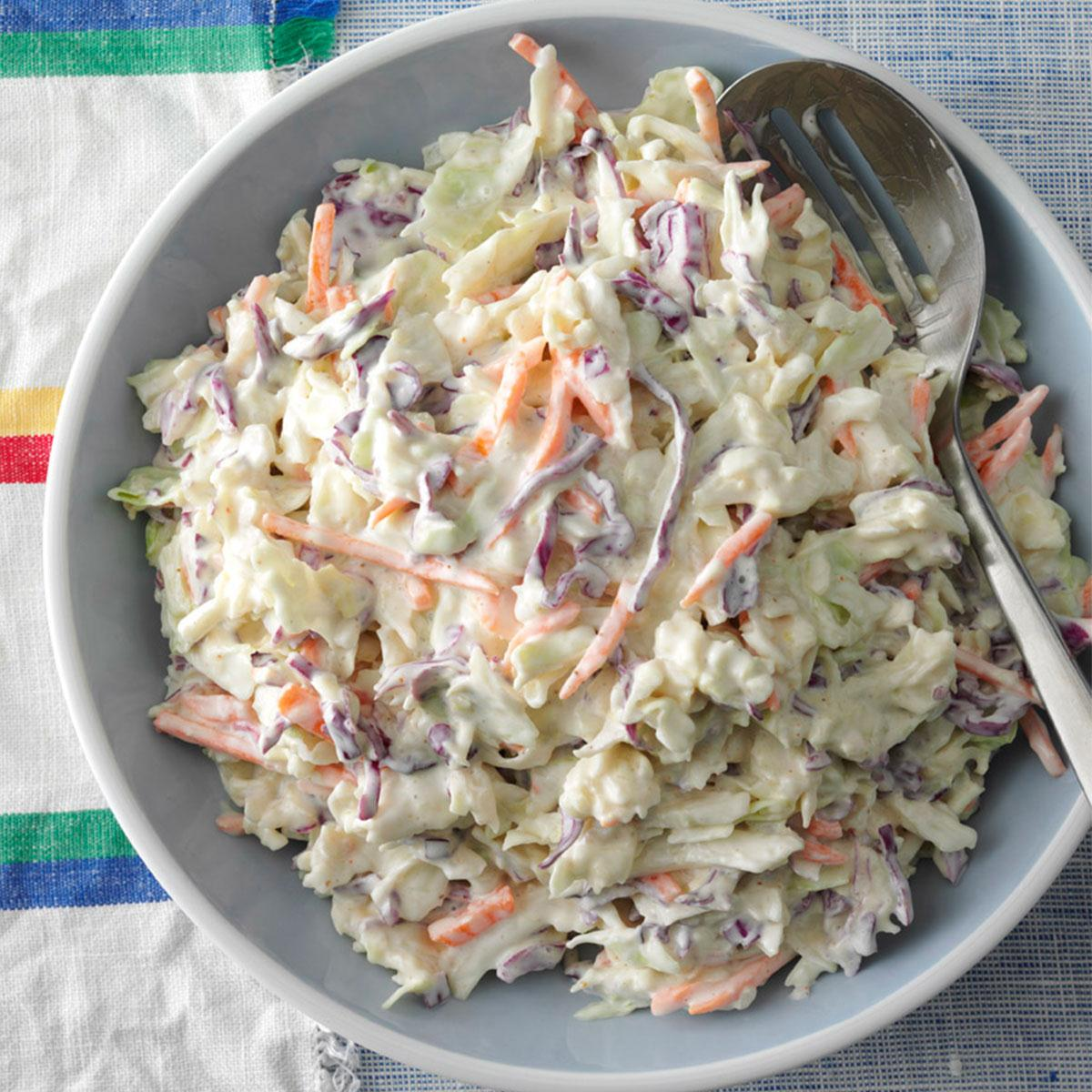 Creamy Coleslaw Recipe How To Make It Taste Of Home