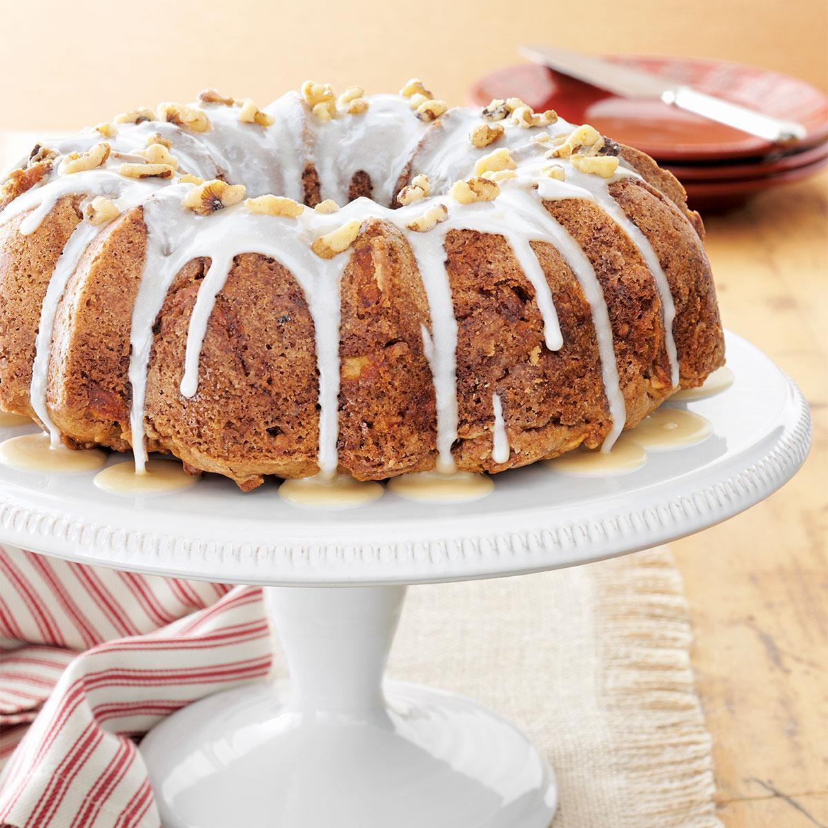 Caramel Apple Cake Recipe Taste Of Home