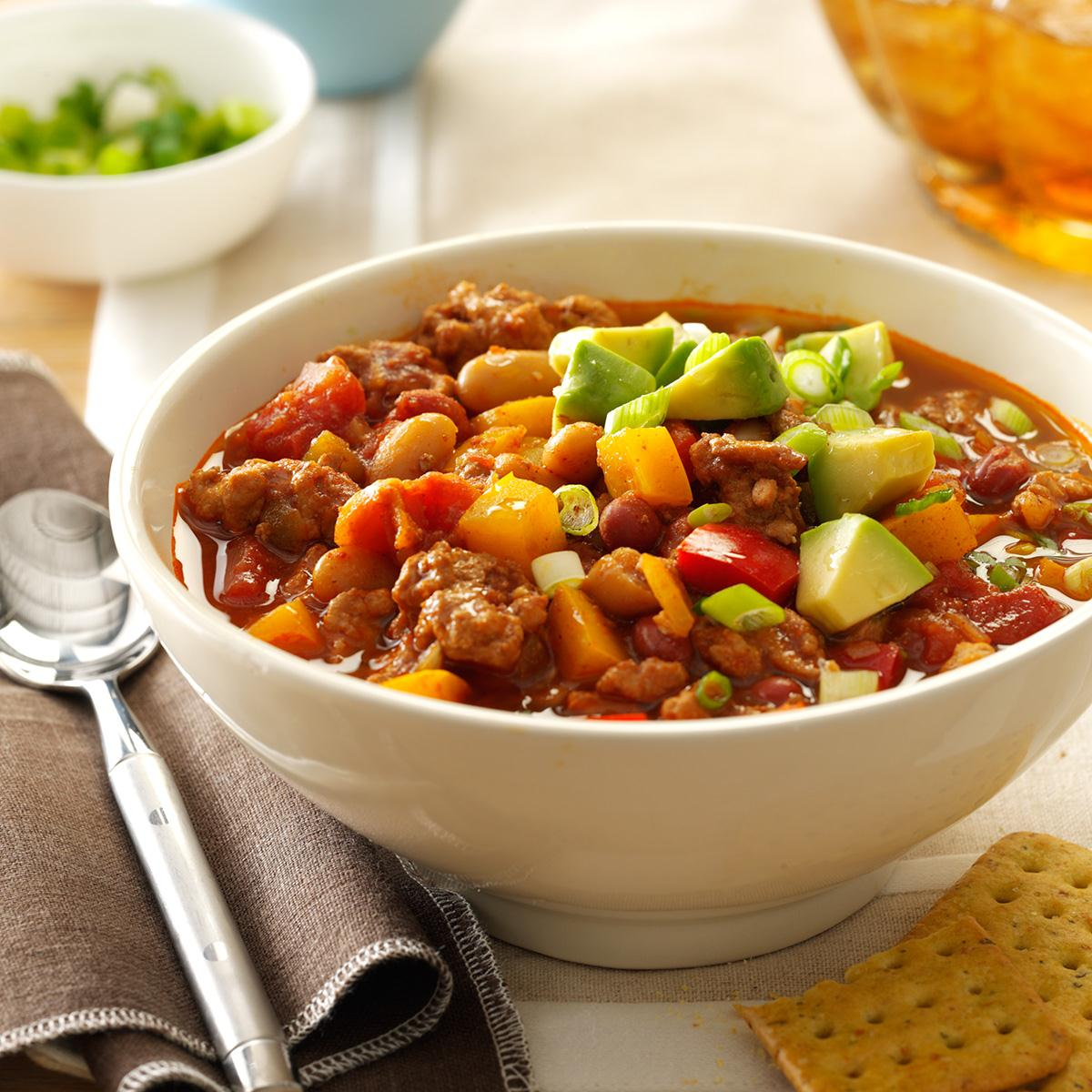 Slow Cooker Turkey Chili Recipe How To Make It Taste Of Home