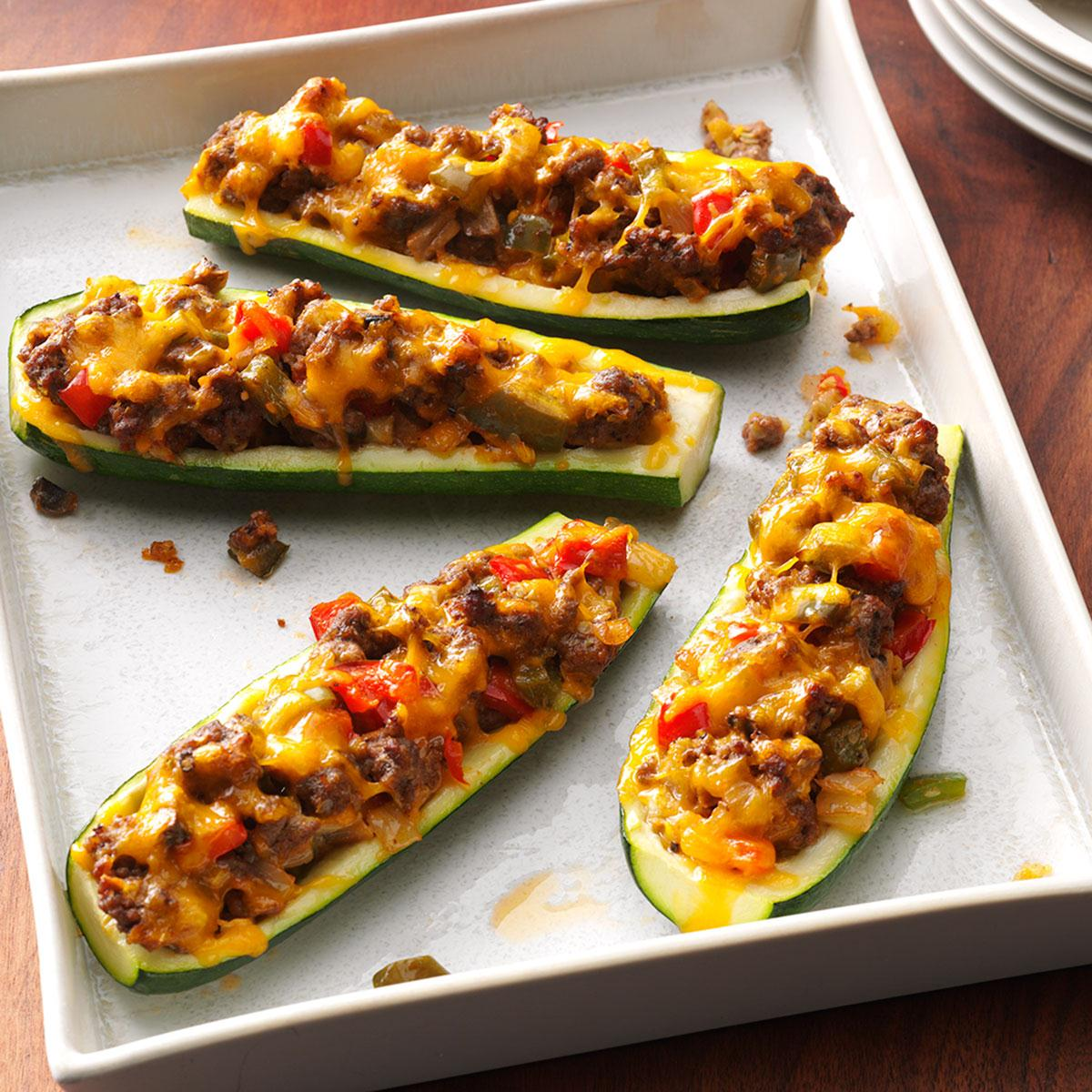 Zucchini Boats Recipe How To Make It Taste Of Home