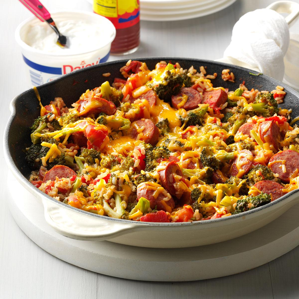 Broccoli Rice And Sausage Dinner Recipe How To Make It Taste Of Home