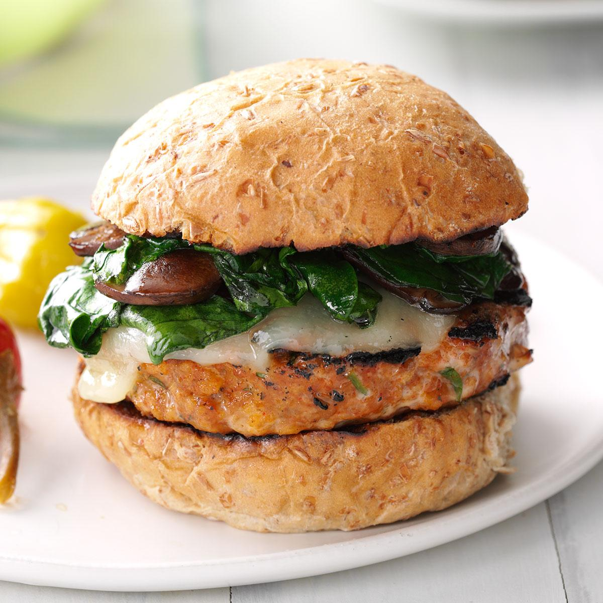 Grilled Italian Turkey Burgers Recipe How To Make It Taste Of Home
