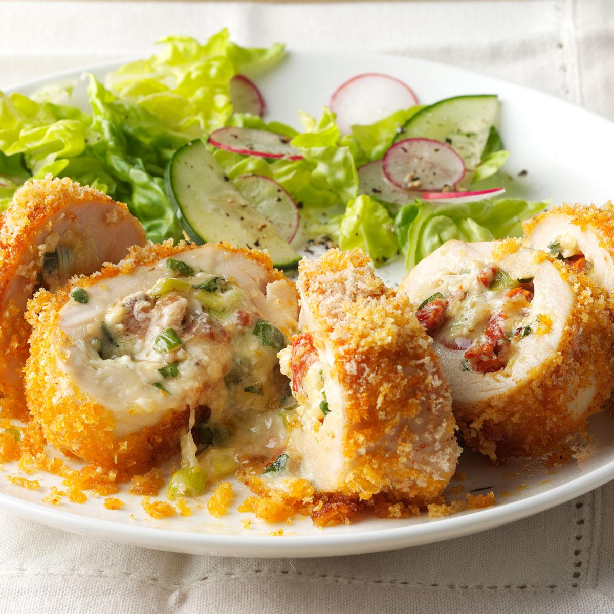 Fontina Rolled Chicken Recipe How To Make It Taste Of Home