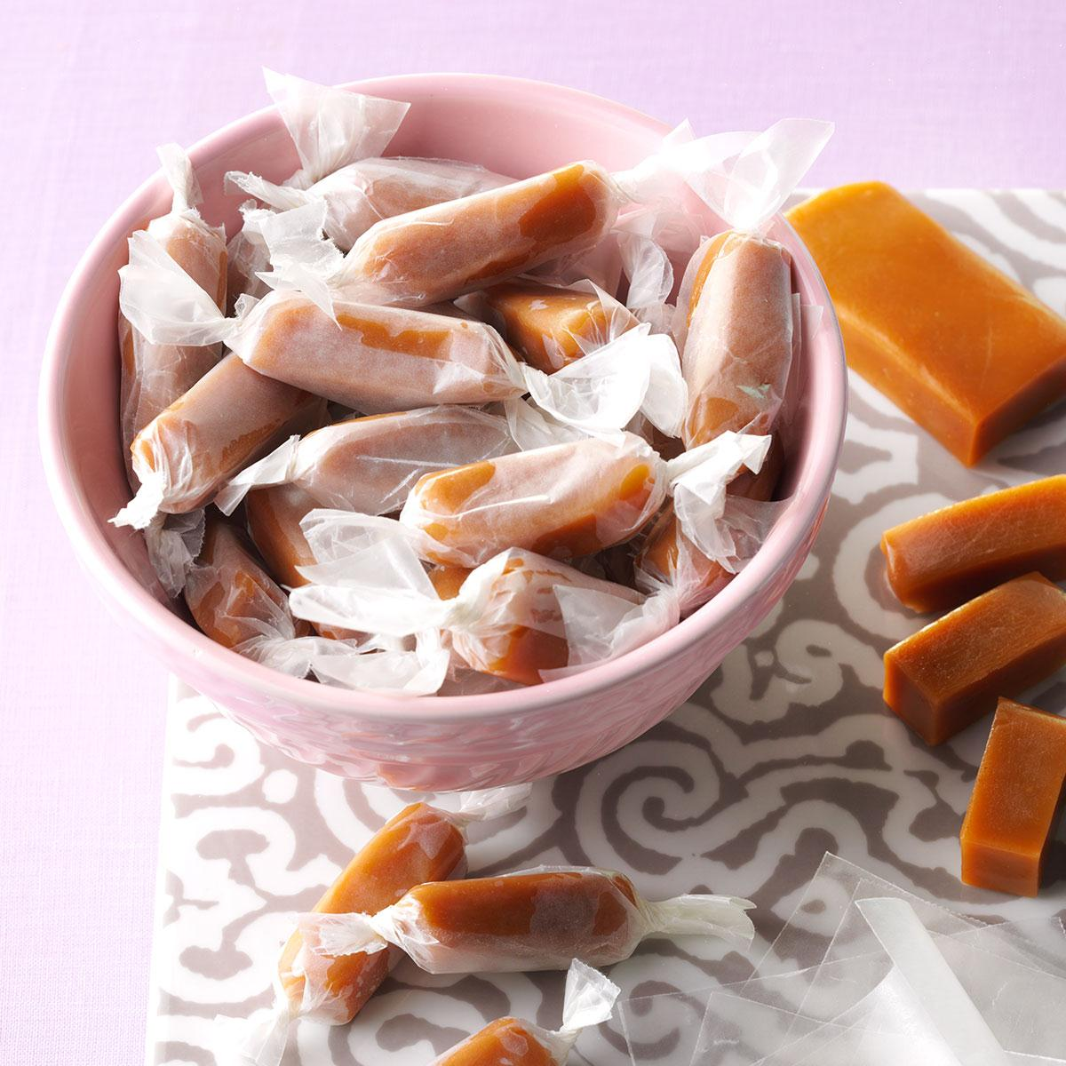 Creamy Orange Caramels