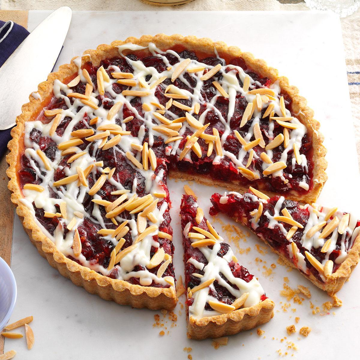 White Chocolate Cranberry Almond Tart
