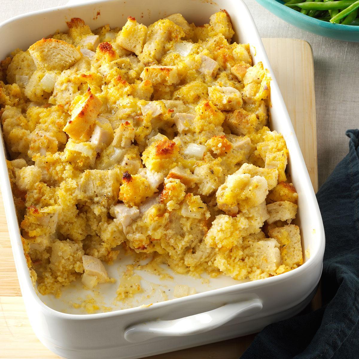 Cornbread Chicken Bake Recipe How To Make It Taste Of Home