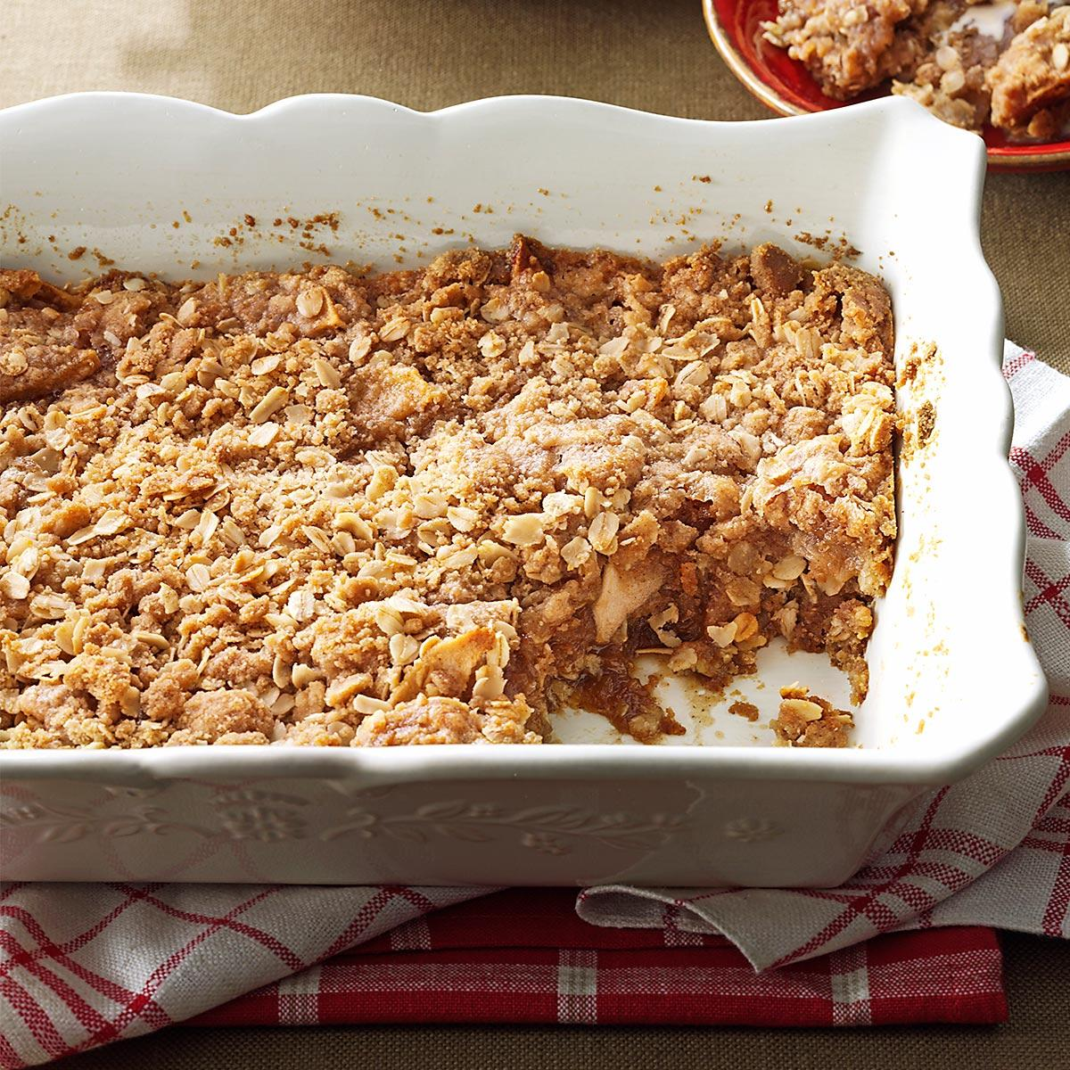 Two Layered Apple Crisp Recipe How To Make It Taste Of Home