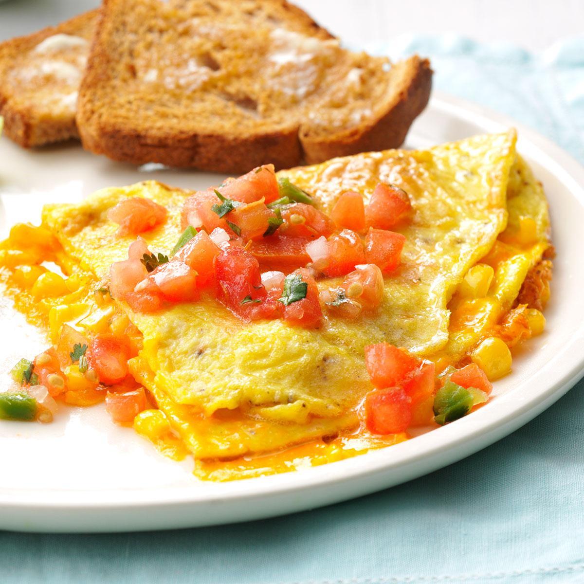 Fresh Corn Omelet image
